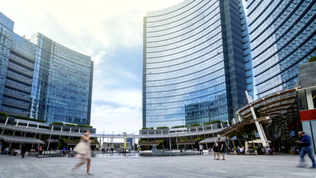 piazza gae aulenti, milan - milan stock videos & royalty-free footage