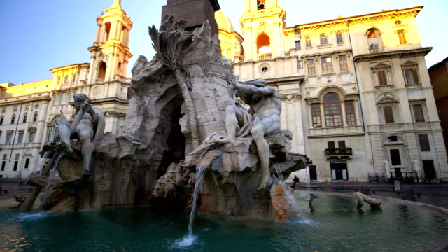 piazza navona in rome, italy - piazza navona stock videos & royalty-free footage