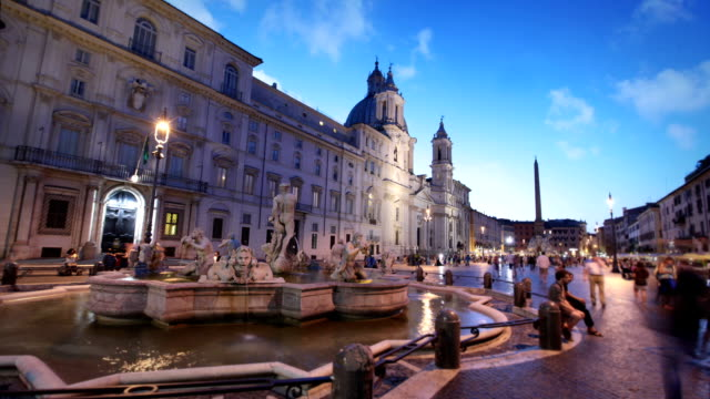 piazza navona, rome, italy - piazza navona stock videos & royalty-free footage