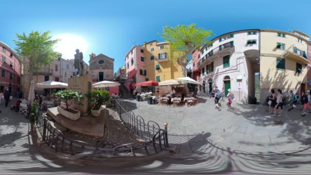 360 VR / Piazza of italian village Corniglia