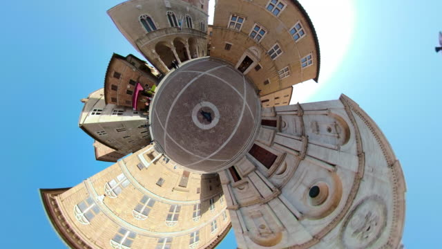 ZO / Piazza Pio of Pienza with Little Planet Effect