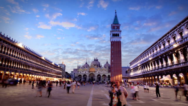 piazza san marco, venice, italy - venice italy stock videos & royalty-free footage