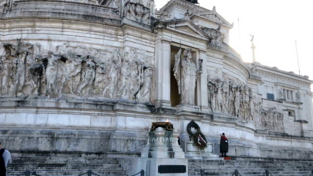 piazza venezia is the central hub of rome, italy monument to vittorio emanuele ii in rome, the altare della patria in rome - piazza venezia stock videos and b-roll footage
