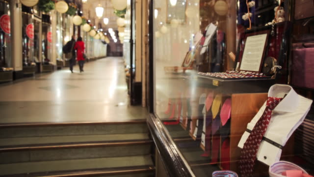 cu selective focus piccadilly arcade, london, england - wealth stock videos & royalty-free footage