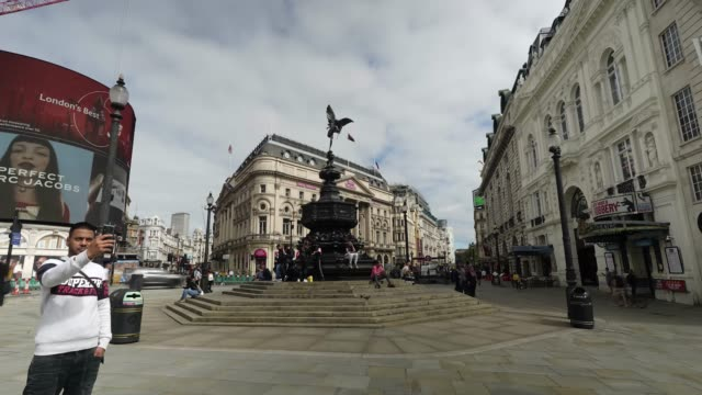 piccadilly circus during covid19 on september 8 2020 in unspecified united kingdom the office for national statistics reported the uk's gdp fell by... - finance and economy stock videos & royalty-free footage