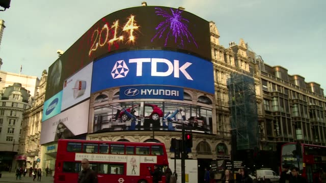 piccadilly circus in london - poster stock videos & royalty-free footage