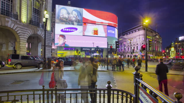 piccadilly circus in london. - piccadilly circus stock videos and b-roll footage