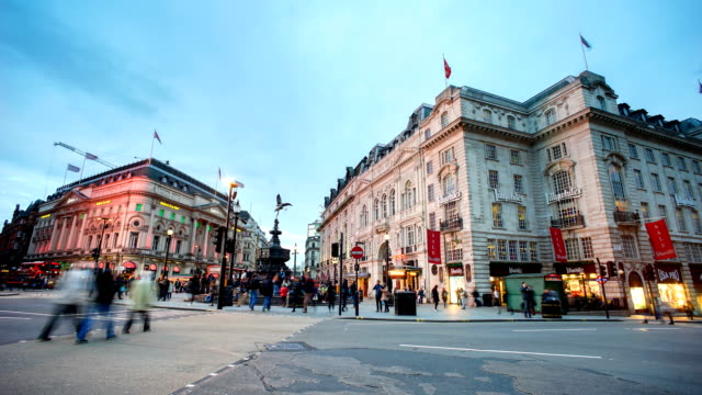 Piccadilly Circus, London, England by time-lapse