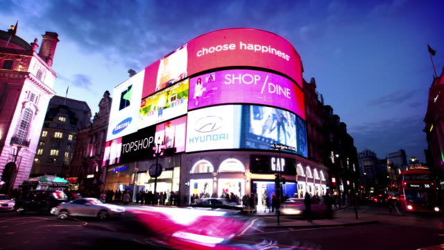 piccadilly circus in london - billboard stock-videos und b-roll-filmmaterial