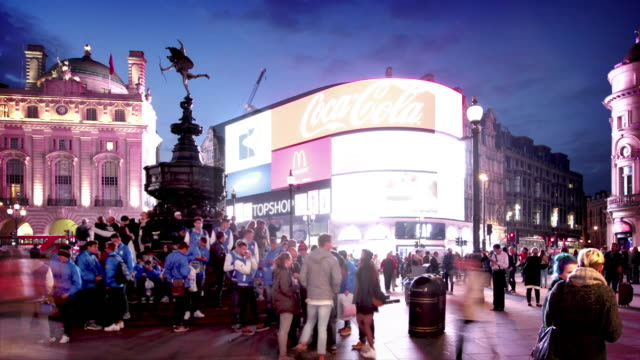 piccadilly circus london - piccadilly circus stock videos and b-roll footage