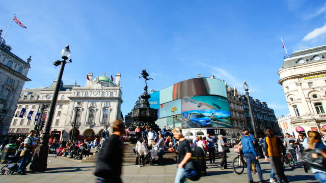 piccadilly circus oxford & regent street, london, england by time-lapse 4k - piccadilly circus stock videos and b-roll footage