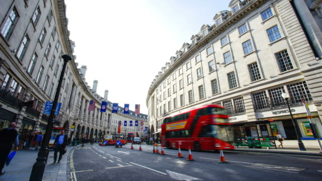 Piccadilly Circus Oxford & Regent street, London, England by time-lapse