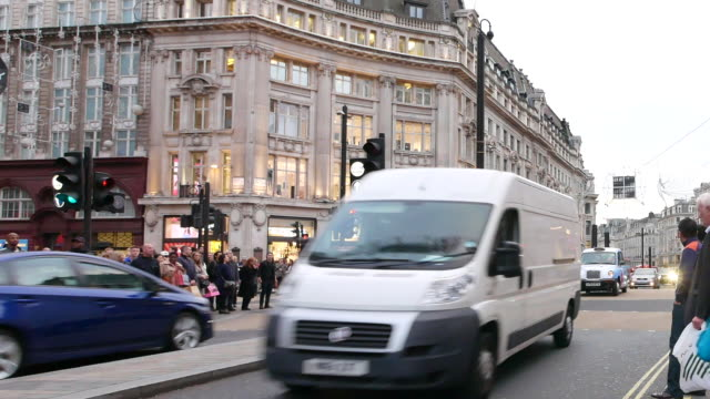 piccadilly circus oxford & regent street, london, england panning - road sign stock videos & royalty-free footage