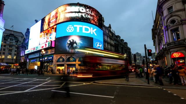 piccadilly circus - time lapse stock videos & royalty-free footage