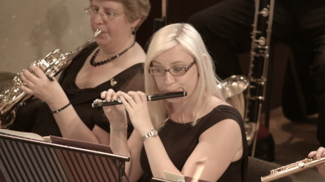 piccolo player in action - soloist stock videos & royalty-free footage