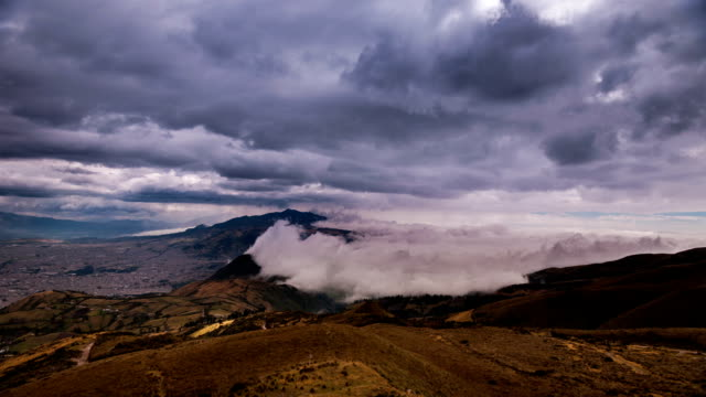 pichincha valley timelapse with couds