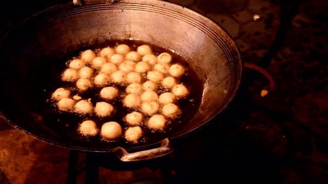 pick up cooked meat ball - boiling stock videos & royalty-free footage