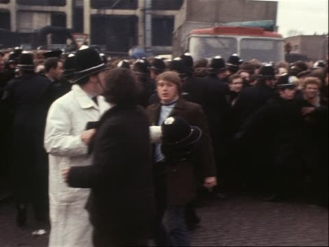 picketers at gas works support the miners strike - miner stock videos & royalty-free footage