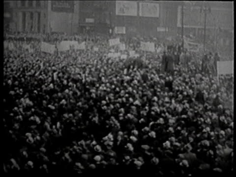 montage picketing workers strike leader homer martin / detroit michigan united states - 1937 stock videos and b-roll footage