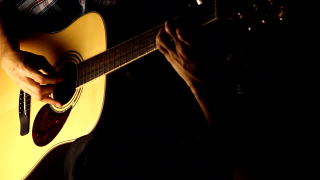 picking guitar - musical instrument string stock videos and b-roll footage