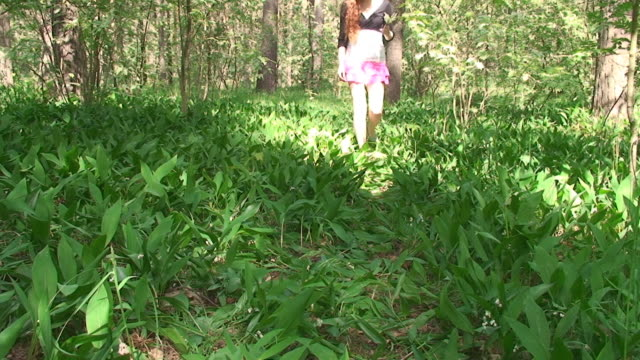 picking wild flowers - mini skirt stock videos & royalty-free footage