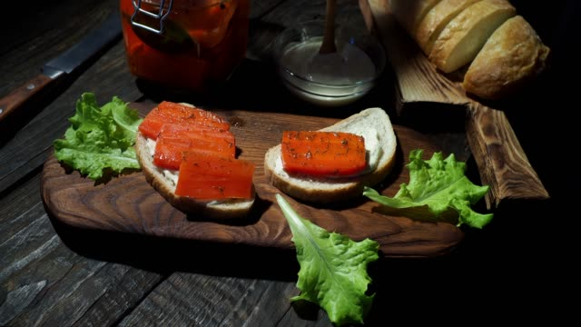 Pickled carrot sandwiches