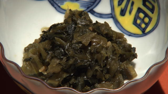 pickled leaf vegetable called hiroshimanazuke, japan - pickled stock videos and b-roll footage