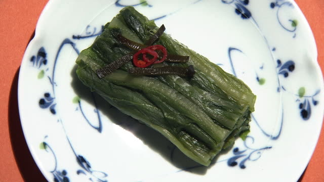 pickled leaf vegetable, hiroshimanazuke, hiroshima, japan - pickled stock videos and b-roll footage