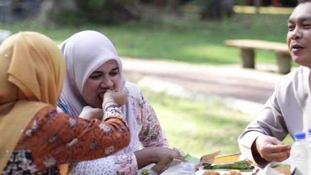 picnic at park - feeding stock videos & royalty-free footage