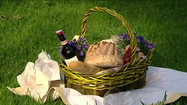 picnic basket - hamper stock videos & royalty-free footage