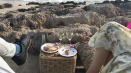 Picnic in The Beach in Autumn