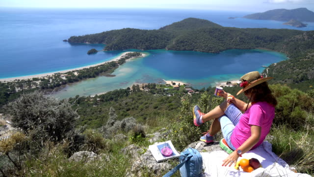 picnic in the oludeniz. - oludeniz stock videos and b-roll footage