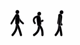 Pictogram man walking cycle