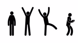 Pictograms people express their joy, success, achievement, victory
