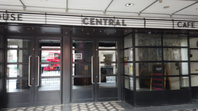 picture house central cinema closed to public, piccadilly circus, london, england on october 19, 2020. high streets in the capital and across the uk... - consumerism stock videos & royalty-free footage