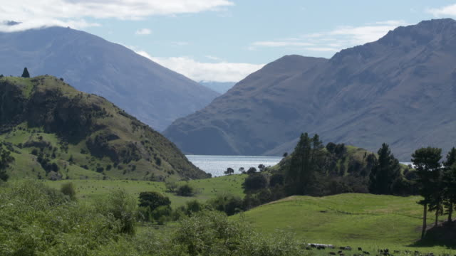 picturesque mountain and lake scenes in wanaka new zealand - otago region stock videos & royalty-free footage