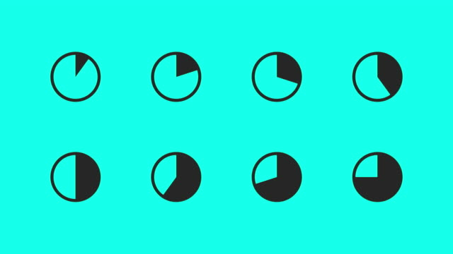 pie chart icons - vector animate - pie chart stock videos & royalty-free footage