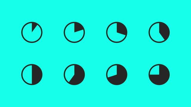 vídeos y material grabado en eventos de stock de animan el gráfico iconos - vector - diagrama circular
