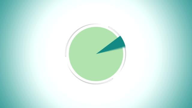 vídeos y material grabado en eventos de stock de diagrama circular indicado 80 por ciento, infografías circle gráfico - diagrama circular