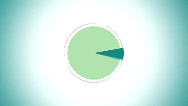 pie chart indicated 95 percent, infographics circle graph - template stock videos & royalty-free footage