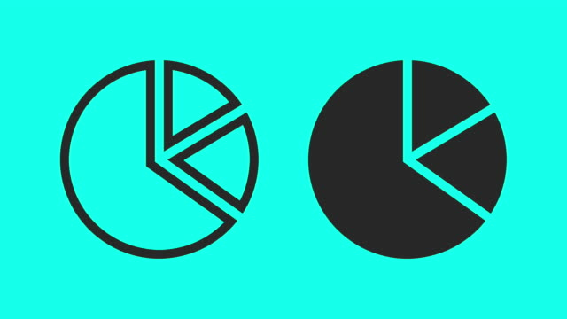 pie chart - vector animate - pie chart stock videos & royalty-free footage