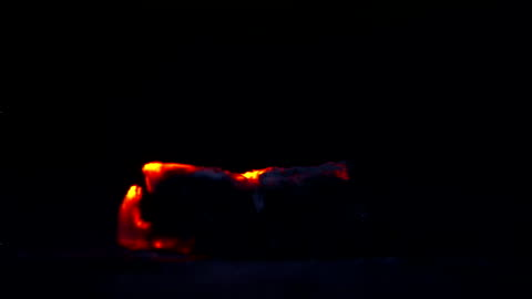 a piece of wood smolders. - log stock videos & royalty-free footage