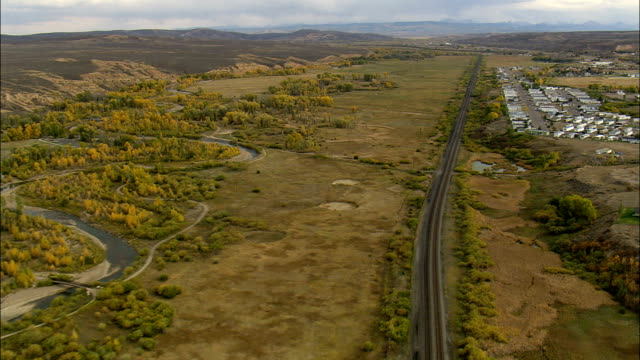 piedmont charcoal kilns state historic site - aerial view - wyoming, uinta county, united states - igloo stock videos & royalty-free footage