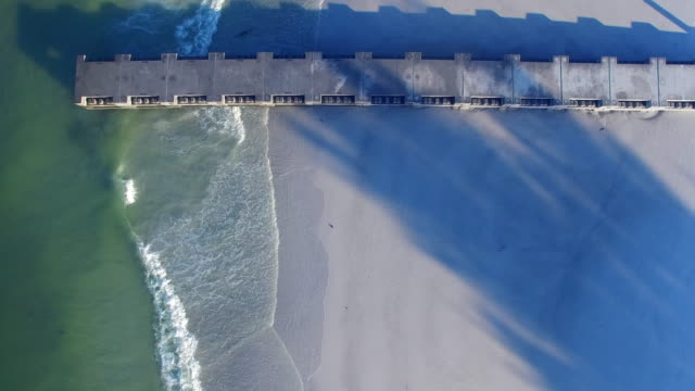 pier and beach - anna maria island stock videos & royalty-free footage