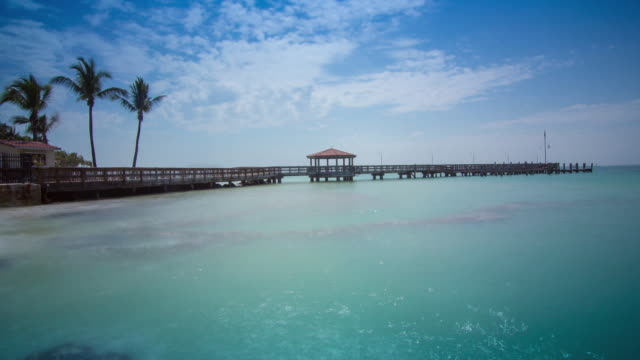 pier and sea - the florida keys stock videos & royalty-free footage