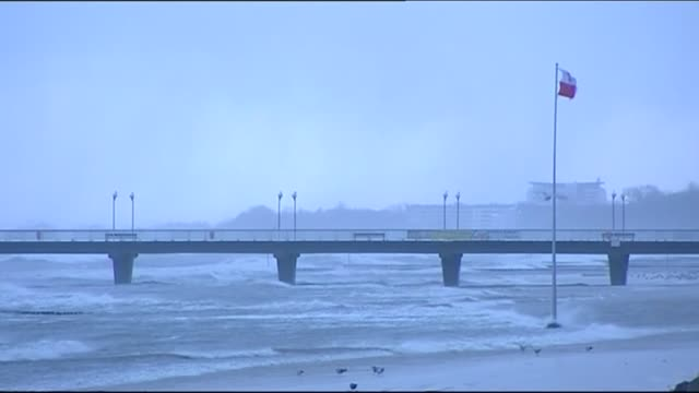 pier and troubled sea - gale stock videos & royalty-free footage