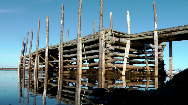 pier at south side on cape sable island, nova scotia - pier stock videos & royalty-free footage