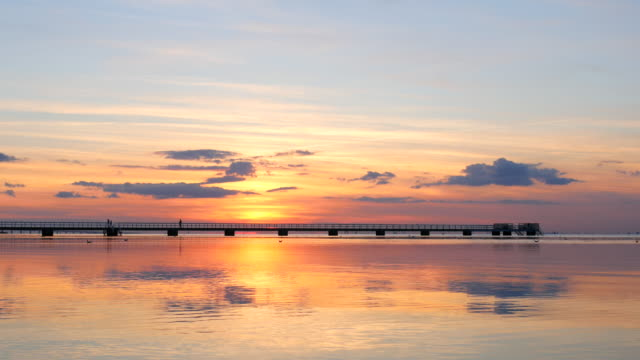 pier at sunset - malmo stock videos and b-roll footage