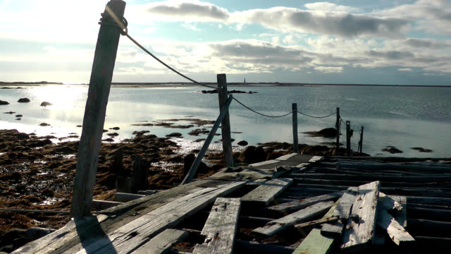 pier at the hawk on nova scotia's south shore - pier stock videos & royalty-free footage