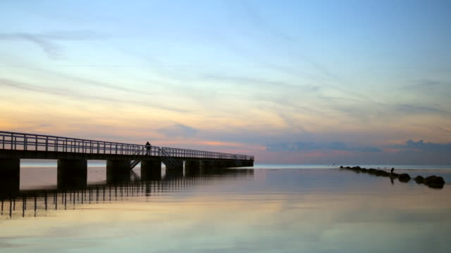 pier at twilight - jetty stock videos & royalty-free footage